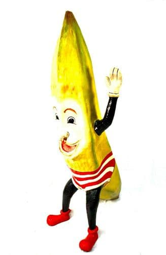 Antique Advertising - Large 1930's Fruit and Veg Shop Display Banana Statue Sign